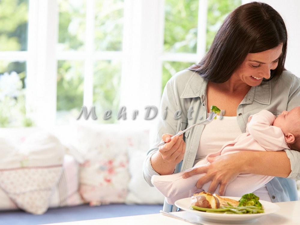 رژیم غذایی شیردهی